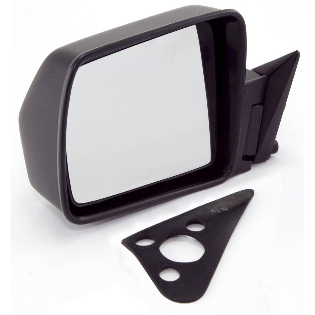 omix ada black manual left side mirror 84 96. Black Bedroom Furniture Sets. Home Design Ideas