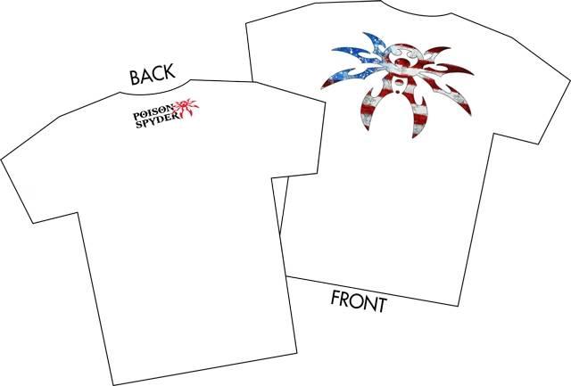 poison spyder  50-46-065 poison spyder ps usa t-shirt 2x