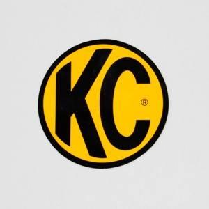 "KC HiLiTES - KC HiLiTES 8"" Decal - KC #9911 (Yellow with Black KC Logo) 9911"