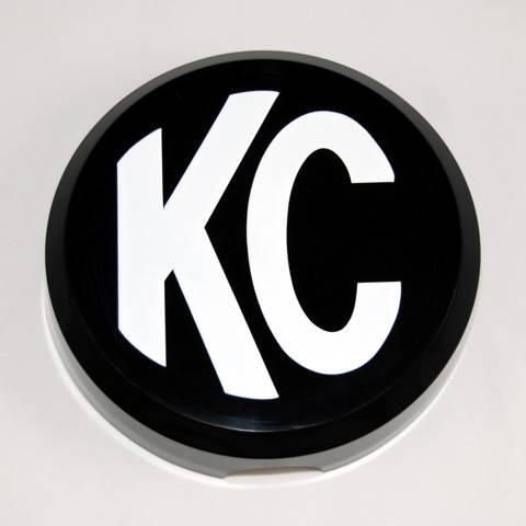 "KC HiLiTES - KC HiLiTES 6"" Plastic Cover - KC #5105 (Black with White KC Logo) 5105"