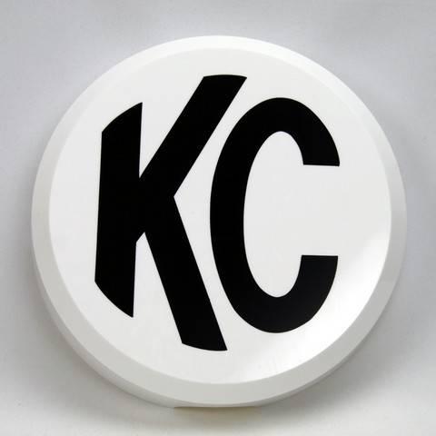 "KC HiLiTES - KC HiLiTES 6"" Plastic Cover - KC #5106 (White with Black KC Logo) 5106"