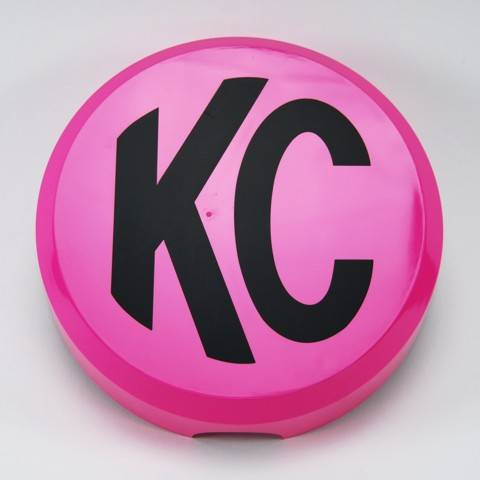 "KC HiLiTES - KC HiLiTES 6"" Plastic Cover - KC #5124 (Pink with Black KC Logo) 5124"