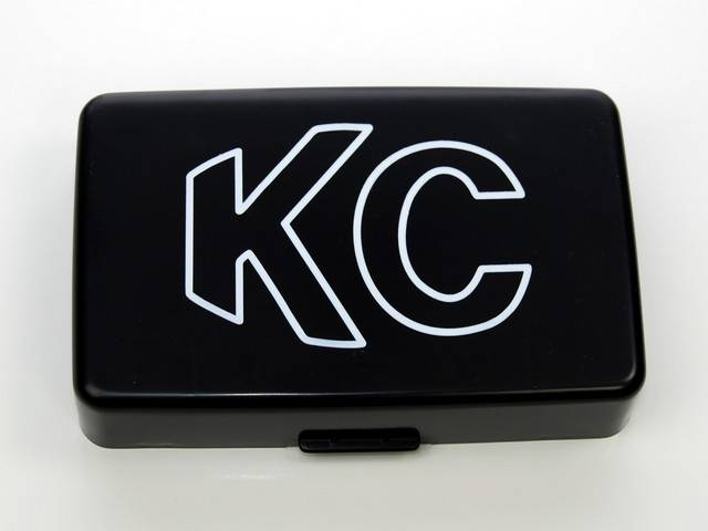 "KC HiLiTES - KC HiLiTES 5"" x 7"" Plastic Cover - KC #5309 (Black with White Outline KC Logo) 5309"