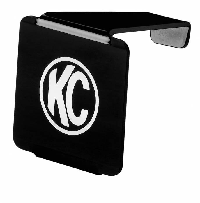 """KC HiLiTES - KC HiLiTES 3"""" LZR Cube LED Acrylic Light Cover - Black w/ White KC Logo - KC #72000 72000"""