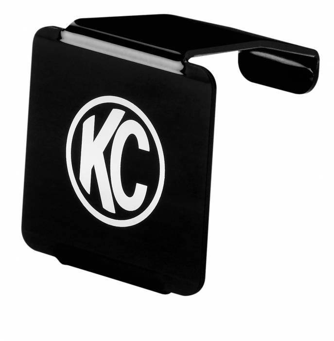 "KC HiLiTES - KC HiLiTES 3"" C3 LED Acrylic Light Cover - Black w/ White KC Logo - KC #72002 72002"