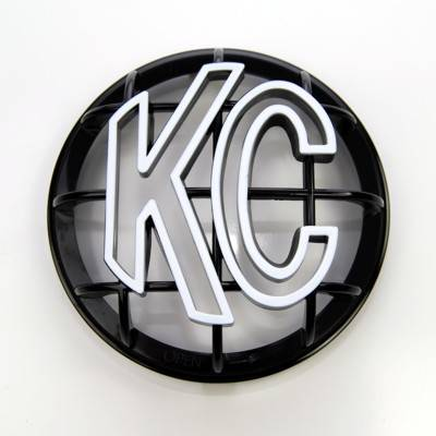 "KC HiLiTES - KC HiLiTES 5"" Apollo Stone Guard - KC #7217 (Black with White KC Logo) 7217"
