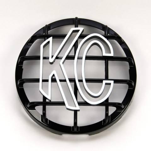 """KC HiLiTES - KC HiLiTES 6"""" Stone Guard - KC #7210 (Black with White KC Logo) 7210"""