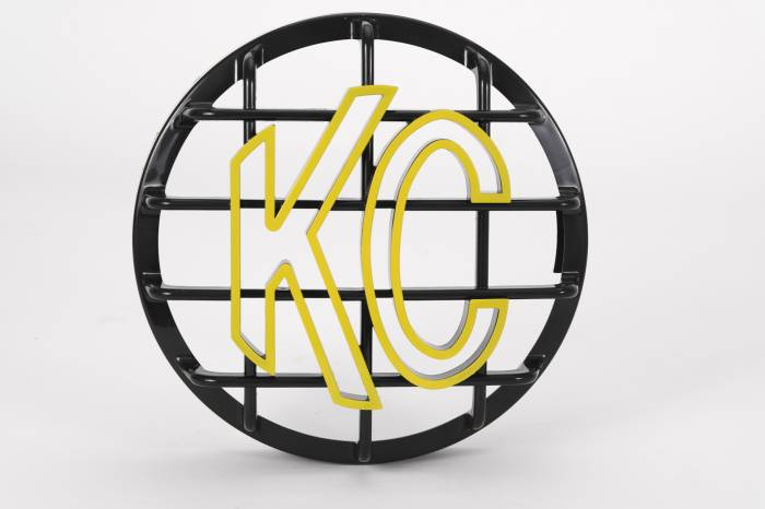 "KC HiLiTES - KC HiLiTES 6"" Stone Guard - KC #72101 (Black with Yellow KC Logo) 72101"