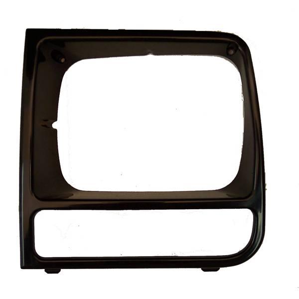 Omix-Ada - Omix-Ada LH Black Headlight Bezel; 97-01 Jeep Cherokee XJ 12419.17