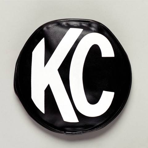 "KC HiLiTES - KC HiLiTES 6"" Vinyl Cover - KC #5100 (Black with White KC Logo) 5100"