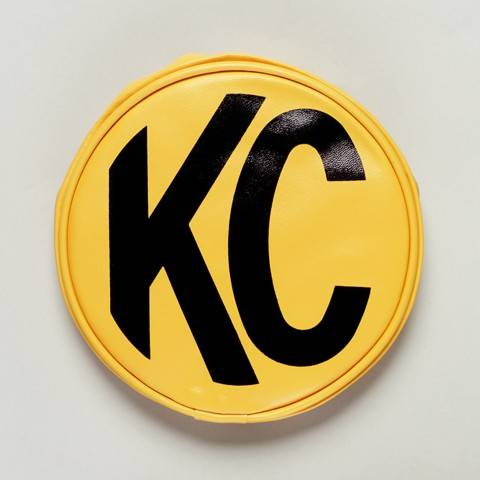 "KC HiLiTES - KC HiLiTES 6"" Vinyl Cover - KC #5101 (Yellow with Black KC Logo) 5101"