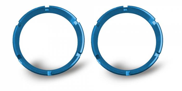 KC HiLiTES - KC HiLiTES KC FLEX Bezels - Blue ED Coated (pair) 30553
