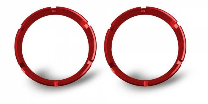 KC HiLiTES - KC HiLiTES KC FLEX Bezels - Red ED Coated (pair) 30554