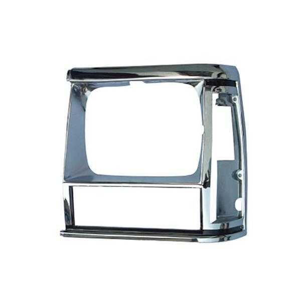Omix-Ada - Omix-Ada LH Chrome Headlight Bezel; 84-90 Jeep Cherokee XJ/MJ 12419.11