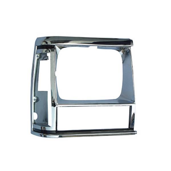 Omix-Ada - Omix-Ada RH Chrome Headlight Bezel; 84-90 Jeep Cherokee XJ 12419.12