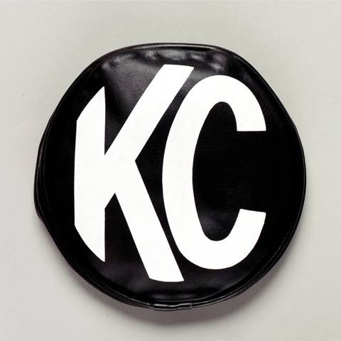"KC HiLiTES - KC HiLiTES 8"" Vinyl Cover - KC #5800 (Black with White KC Logo) 5800"