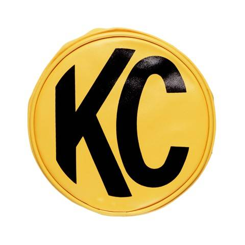 "KC HiLiTES - KC HiLiTES 8"" Vinyl Cover - KC #5801 (Yellow with Black KC Logo) 5801"