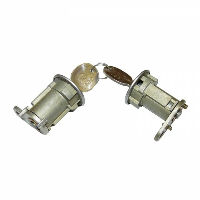Omix-Ada - Omix-Ada Door Lock Cylinder Set; 76-90 Jeep CJ/XJ/MJ/YJ 11813.02