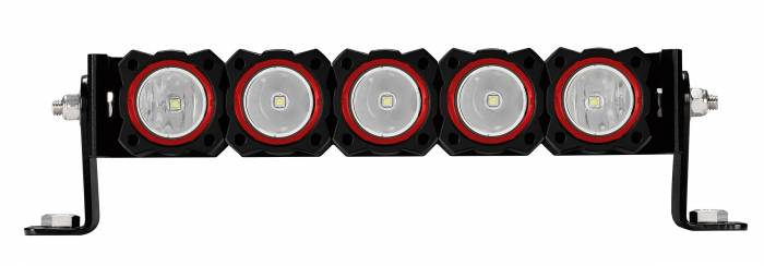 KC HiLiTES - KC HiLiTES KC FLEX Bezels -  Red ED Coated (5 pack) 30564