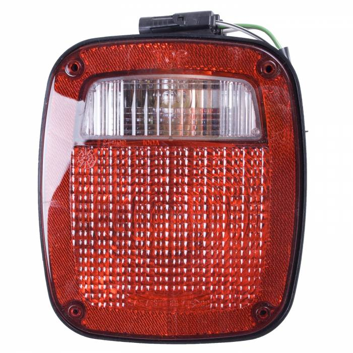 Omix-Ada - Omix-Ada Left Black Tail Lamp; 91-97 Jeep Wrangler YJ/TJ 12403.13