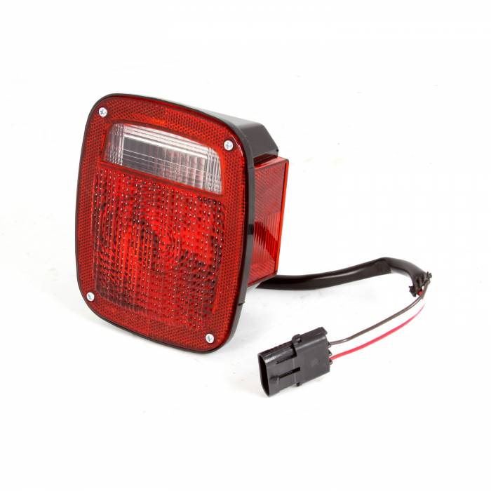 Omix-Ada - Omix-Ada Tail Light, Right, Black Housing; 98-06 Jeep Wrangler TJ 12403.48