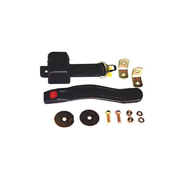 Omix-Ada - Omix-Ada Lap Seat Belt, Black; 76-95 Jeep Wrangler CJ/YJ 13202.02