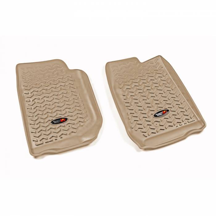 Rugged Ridge - Rugged Ridge Floor Liners, Front, Tan; 07-16 Jeep Wrangler/JKU 13920.01