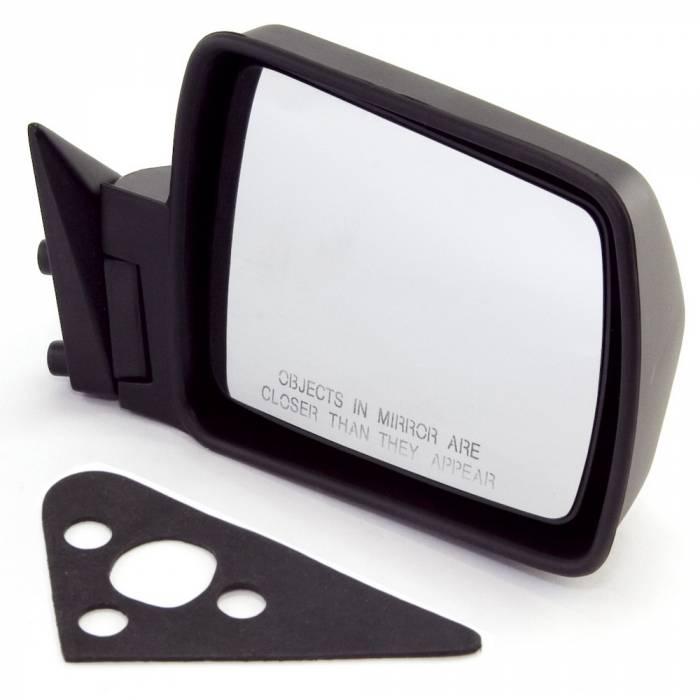 Omix-Ada - Omix-Ada Black Manual Right Side Mirror; 84-96 Jeep Cherokee XJ 12035.08