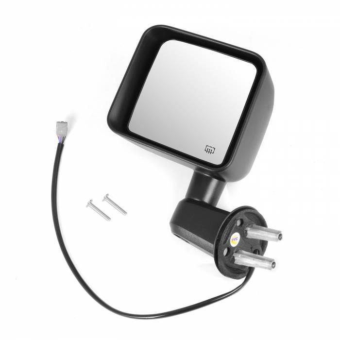 Omix-Ada - Omix-Ada Heated Power Mirror, Left, Black; 11-13 Jeep Wrangler JK 11002.25