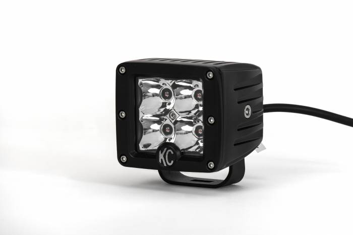 """KC HiLiTES - KC HiLiTES 3"""" C-Series C3 LED Spot with Amber LED Pair Pack System - #315 315"""