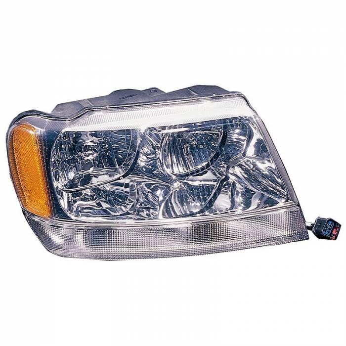 Omix-Ada - Omix-Ada Right Headlight; 99-04 Jeep Grand Cherokee WJ 12402.10