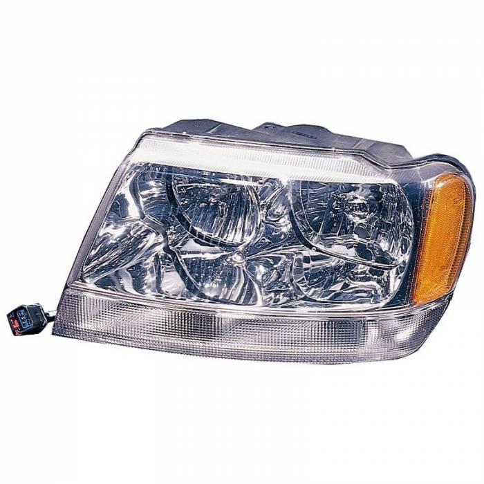 Omix-Ada - Omix-Ada Left Headlight; 99-04 Jeep Grand Cherokee WJ 12402.11