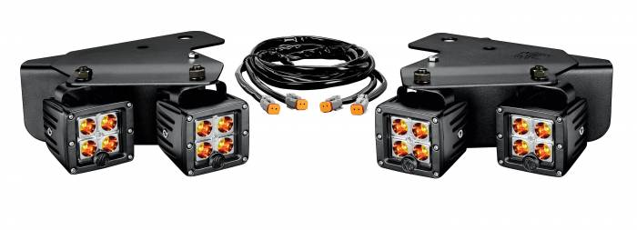 "KC HiLiTES - KC HiLiTES 3"" C-SERIES C3 LED BUMPER LIGHT SYSTEM FOR 10 -15 FORD RAPTOR (AMBER SPOT BEAM) 342"