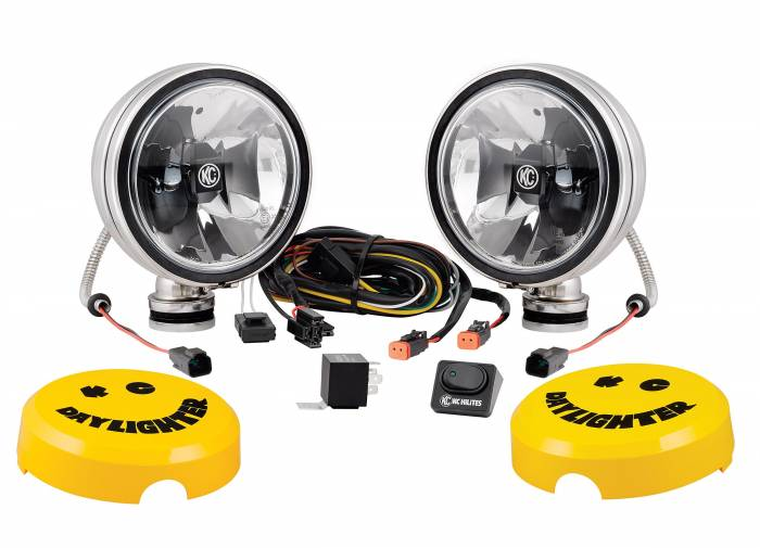 "KC HiLiTES - KC HiLiTES 6"" Daylighter with Gravity LED G6 Spot Beam Black Pair Pack - #651 651"