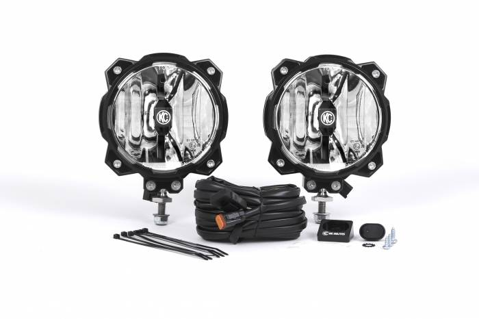 KC HiLiTES - KC HiLiTES Gravity LED Pro6 Single Driving Beam SAE/ECE Pair Pack System ?Çô #91303 91303