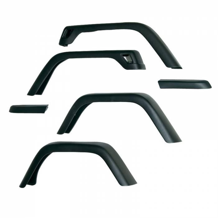 Omix-Ada - Omix-Ada 7 Inch Fender Flare Kit, Excluding Hardware; 97-06 Jeep Wrangler TJ 11608.11