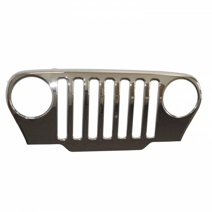 Omix-Ada - Omix-Ada Chrome Grille Overlay; 97-06 Jeep Wrangler TJ 12033.01