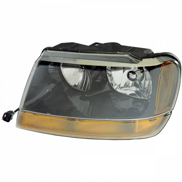 Omix-Ada - Omix-Ada Left Headlight; 99-04 Jeep Grand Cherokee WJ 12402.09