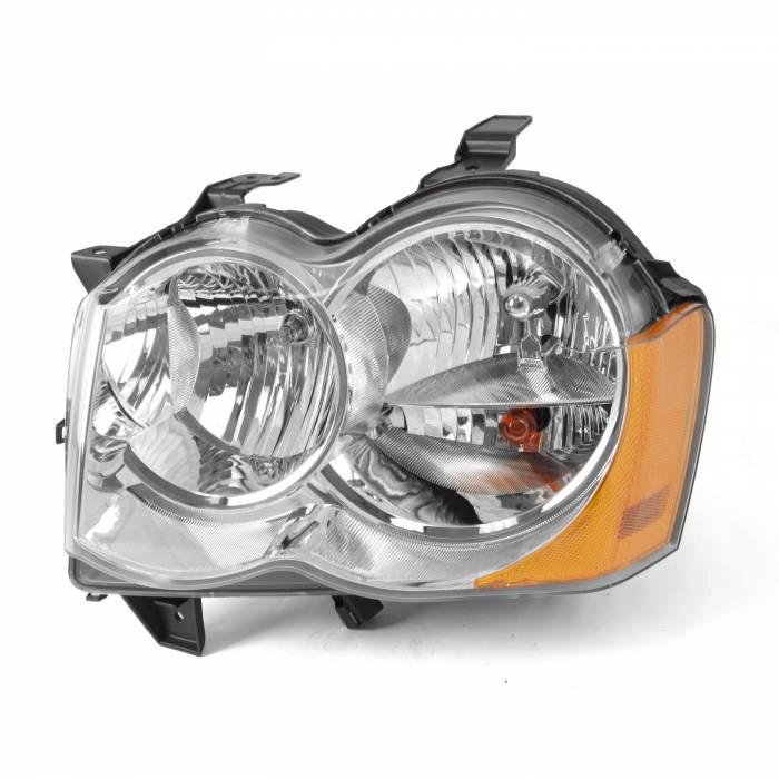 Omix-Ada - Omix-Ada LH Headlight without Fog Lights; 05-10 Jeep Grand Cherokee WK 12402.23