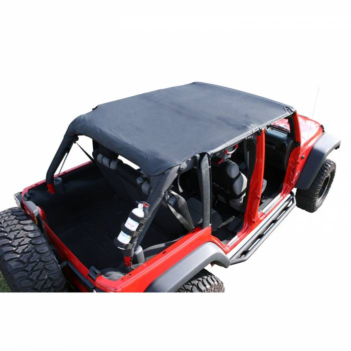 Rugged Ridge - Rugged Ridge Island Pocket Topper, Black; 07-09 Jeep Wrangler JKU 13589.35