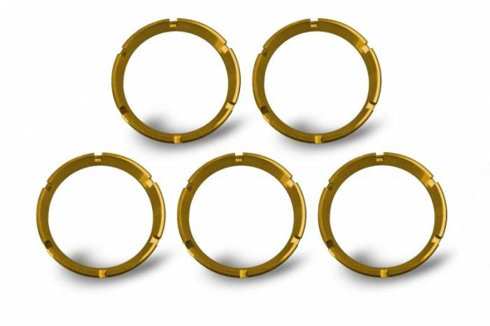 KC HiLiTES - KC HiLiTES KC FLEX Bezels - Gold ED Coated (5 pack) - #30562 30562