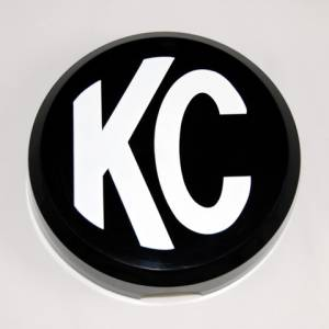 "Lighting - Lighting Accessories - KC HiLiTES - KC HiLiTES 6"" Plastic Cover - KC #5105 (Black with White KC Logo) 5105"