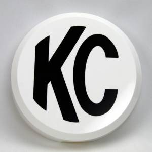 "Lighting - Lighting Accessories - KC HiLiTES - KC HiLiTES 6"" Plastic Cover - KC #5106 (White with Black KC Logo) 5106"