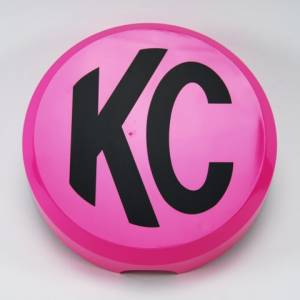 "KC HiLiTES - KC HiLiTES 6"" Plastic Cover - KC #5124 (Pink with Black KC Logo) 5124 - Image 2"