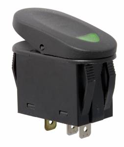 Rugged Ridge - Rugged Ridge 2-Position Rocker Switch, Green 17235.04