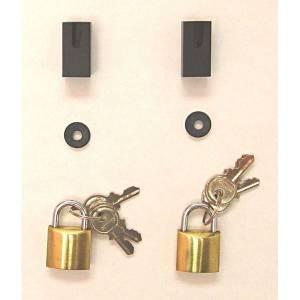 Axle Parts - Brakes - Rugged Ridge - Rugged Ridge Door Hinge Lock Kit; 97-06 Jeep Wrangler TJ MS-SLG1
