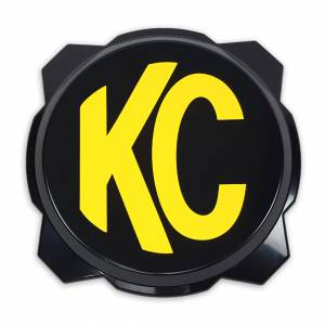 Lighting - Lighting Accessories - KC HiLiTES - KC HiLiTES KC Gravity Pro6 Black Light Cover with Yellow KC Logo - #5111 5111