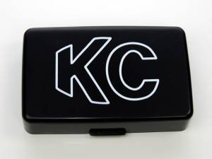 "KC HiLiTES - KC HiLiTES 5"" x 7"" Plastic Cover - KC #5309 (Black with White Outline KC Logo) 5309 - Image 1"