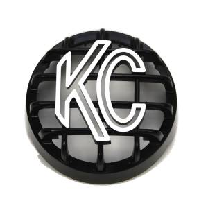 "Lighting - Lighting Accessories - KC HiLiTES - KC HiLiTES 4"" Stone Guard - KC #7219 (Black with White Logo) 7219"