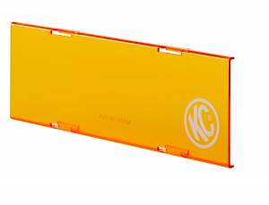 "KC HiLiTES - KC HiLiTES 10"" Amber Acrylic Light Shield 72021 - Image 1"